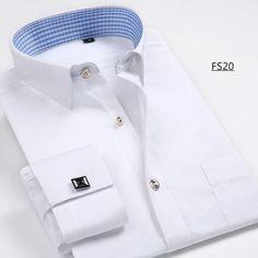 Men French Cufflinks Shirt 2016 New Men's Shirt Long Sleeve Casual Male Brand Shirts Slim Fit French Cuff Dress Shirts For Men
