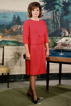 The First Lady Jacqueline Kennedy prepares for her televised tour of the restored White House ~ Feb. 14th, 1962