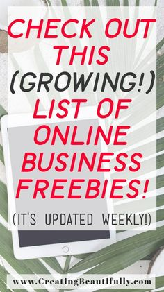 Check out these online business freebies! This list is updated weekly, too, so be sure to save it, pin it, and/or bookmark it so you can come back to it again and again!
