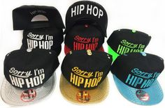 Snap Back Flat Bill Sorry I m Hip Hop HatThis hat comes assorted color… 10766e9bfa84