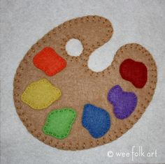 Painter's Palette Coloring Page | Wee Folk Art