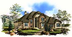 European Style House Plans - 3121 Square Foot Home , 2 Story, 3 Bedroom and 2 Bath, 3 Garage Stalls by Monster House Plans - Plan 53-266