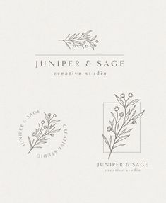 """I like this font style on top logo, the all caps for company name """"sage + stone"""" and then lowercase below for """"central coast events"""" Logo Branding, Branding Design, Logo Boutique, Three Logo, Florist Logo, Photographer Logo, Studio Logo, Logo Images, Grafik Design"""