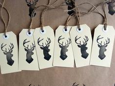 Hand Carved Rubber Stamp - Deer Silhouette // Felt
