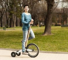 Halfbike: A Stand Up Tricycle - http://www.gadgets-magazine.com/halfbike-stand-tricycle/