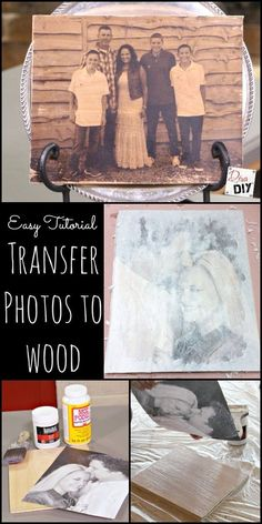 Transferring photos to wood is one of my favorite DIY photo ideas! These are perfect for wedding gifts, Christmas gifts or any occasion for Handmade gifts!  http://divaofdiy.com/transfer-photos-wood-ease/