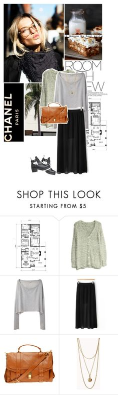 """""""Chanel.."""" by flavia-hajna ❤ liked on Polyvore featuring Dulce, Prada, Craftsman, R13, Proenza Schouler and Forever 21"""