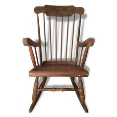 Rocking-chair en bois