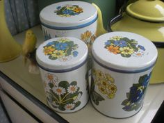 Vintage kitchen tea coffee sugar storage cannister tins retro caravan camper van | eBay