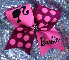 Barbie cheer bow by SarahsCheerBows on Etsy