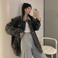 Ulzzang Fashion, Kpop Fashion Outfits, Tomboy Fashion, Harajuku Fashion, Edgy Outfits, Grunge Outfits, Cute Casual Outfits, Pretty Outfits, Korean Fashion