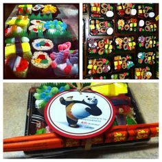 Kung Fu Panda Candy Sushi Birthday Favors, I love how these turned out <3