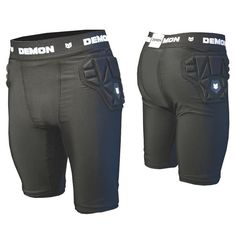 DEMON SKINN MENS SNOWBOARD IMPACT SHORTS The skinn shorts are a protective coccyx and hip protector in an extremely slim design to prevent lack of movement. The protecion comes from the thermoformed pads on the hips and thigh and a flexi foam core over the coccyx area to keep you safe making this short the lightest most comfy short available. #demon #skinnimpactshortsmens #safetyprotectionequipment #colourblack