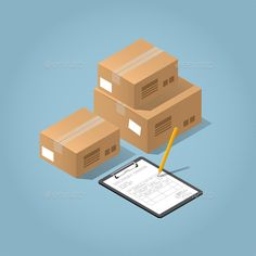 Buy Vector Package Delivery Illustration by Petrolium on GraphicRiver. Vector isometric concept illustration of delivered purchases. Cardboard boxes and a clipboard with delivery form and . Package Delivery, Delivery Man, Isometric Art, Isometric Design, Supermarket Logo, Pag Web, What Is Search Engine, Grafic Art, Instagram Highlight Icons