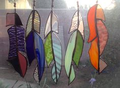 Stained Glass feathers by B.o.B. Brashears.