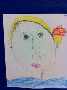 Kindergarten self portrait.