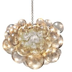 Includes Canopy & 3-Foot Chain Material: Cast Resin w/Bubbles Hardware Finish Options: Silver (Shown), Brass