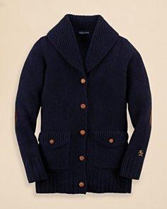 Ralph Lauren Childrenswear Girls' Shawl Collar Cardigan - Sizes S-XL_0