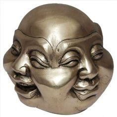 Amazon.com: Buddha Head Four Faces Brass Statue: Home & Kitchen