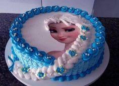 Ideas para fiestas de cumpleaños de Frozen pastel