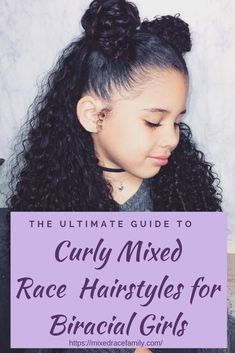 Easy Hairstyles Mixed Race Hair Workout - simple curly mixed race hairstyles for biracial girls Mixed Race Hairstyles, Kids Curly Hairstyles, Creative Hairstyles, Curly Hairstyles Tutorial, Simple Girls Hairstyles, Little Mixed Girl Hairstyles, Little Girl Curly Hair, Popular Hairstyles, Black Women Hairstyles