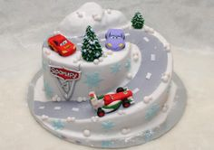Cars Cake Mcqueen Cake, Car Cakes, Xmas, Christmas, 2nd Birthday, Fondant, Disney, Desserts, Food