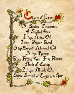 Charmed Book Of Shadows Spells | Charm Of Love I by Charmed-BOS