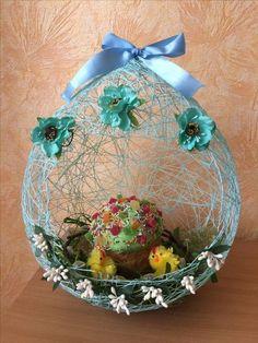 Csak 3 dologra lesz szükséged ahhoz, hogy ilyen különleges húsvéti dekorációt készíts - Bidista.com - A TippLista! Christmas Crafts To Sell, Diy Crafts To Sell, Holiday Crafts, Christmas Ornaments, Easter Arts And Crafts, Easter Projects, Spring Crafts, Easter Egg Basket, Jute Crafts