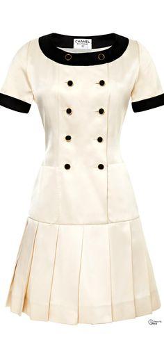 Chanel ● White Satin Dress