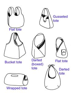 Detailed tutorials on how to make any kind of bag. DIY sewing.