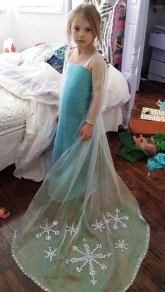 Kennedy's frozen dress...In her messy room