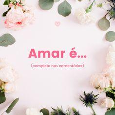 Amar é maravilhoso!❤ #mensagenscomamor #amor #frasesdeamor #inspiração Place Cards, Place Card Holders, Beautiful Love Quotes, Messages