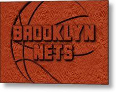 Nets Metal Print featuring the photograph Brooklyn Nets Leather Art by Joe Hamilton