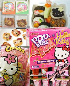 Who knew there were so many Hello Kitty food products out there?  Wouldn't it be fun to get a few of them and help your little ones have a tea party?