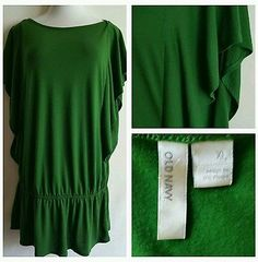 Old Navy Womens batwing Dolman Sleeve Green Top Shirt Blouse Size  XL summer