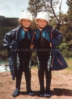 on the set of How The West Was Fun 1994, Mary-Kate and Ashley