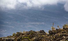View of Shira Camp 2 from the Shira Cathedrals at Mount Kilimanjaro in Tanzania