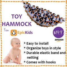 Toy Hammock - A Large Storage Net for Plush Toys and Stuffed Animals - Helps Your Child Organize Their Room - by EpicKids Stuffed Animal Storage, Stuffed Toy, Toy Hammock, Little Dolly, Outdoor Fun For Kids, Summer Activities For Kids, Toy Organization, Cool Pets, Plush Animals