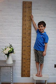 The 'Kids Rule' wooden ruler height chart is a handmade, personalised wooden growth chart, designed as a giant vintage wooden ruler by Lovestruck Interiors. Wooden Height Chart, Christening Present, Room Deco, Wooden Ruler, Growth Chart Ruler, Childrens Gifts, Cool Kids, Etsy, Diy