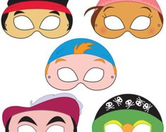 Jake and the Neverland Pirates - Free Printable Face Masks