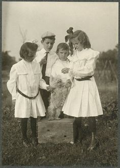 Playing with Dog, Historic Pittsburgh Image Collections