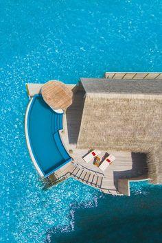 The beach pool villa at Milaidhoo Island Maldives hotel