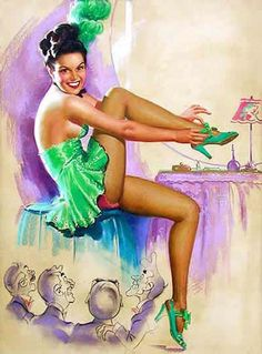 Famous WWII Vintage PinUp Girl Artist K. O. Munson