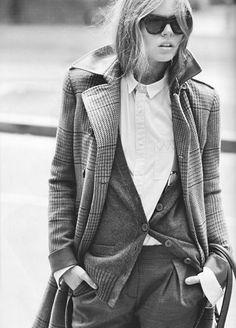 Women in Menswear and Menswear in Design - http://www.cozybliss.com/design-trend-menswear/