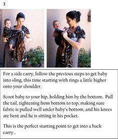 Hip carry. BabyBug ring sling. # ringsling #babycarrier #instructions #babywearingtutorial