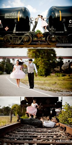 lovely Train shoot. would love to do this for some engagement pictures!