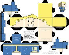 Great idea - Papercraft Pip Boy! (Vault Boy for Victoria :) )