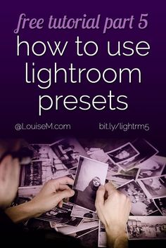 In this Adobe Lightroom tutorial on presets, you'll learn: What is a Preset, How to Use Presets, and How to Find and Install New Presets. You'll love them!