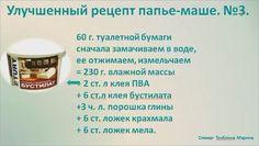 Полезные рецепты для декорирования и лепки от М.Трублиной.