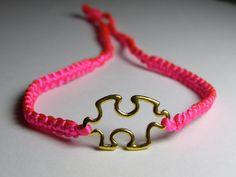 Jigsaw bracelet by ByKarianne on Etsy, kr55.00